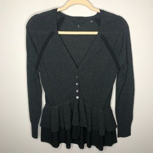 Knitted & Knotted Anthropologie Peplum Cardigan